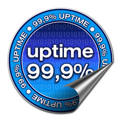 Sticker Uptime - 99,9% (02)