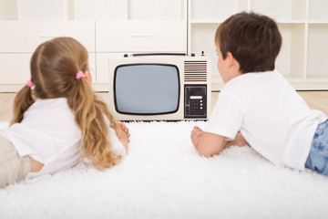 Kids watching television