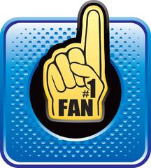 fan hand blue halftone web button