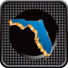 florida state black checkered web button