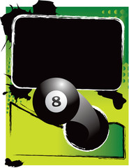 eight ball green grungy template
