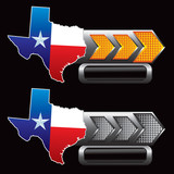 texas lonestar state orange and gray arrow nameplates poster