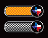 texas lonestar state orange and black checkered tabs poster