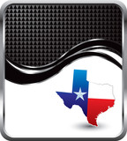 texas lonestar state black checkered wave poster