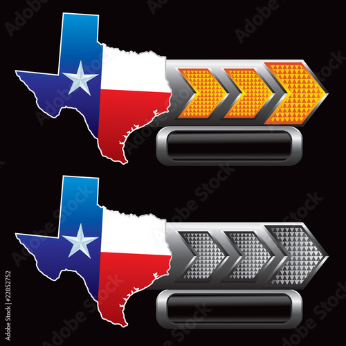 texas lonestar state orange and gray arrow nameplates