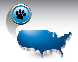 paw print blue united states icon