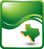 texas state green wave background poster
