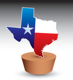 texas state icon on brown patch poster