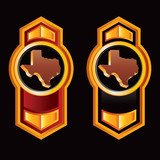 texas state orange vertical arrow red and black lining poster