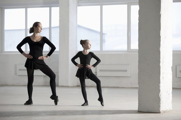 Female dancers with hands on hips