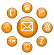 CONTACT web buttons (e-mail customer care service online)