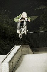 BMX rider in mid-air