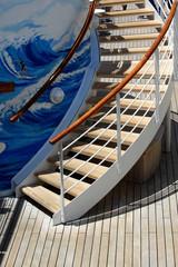 scaletta esterna in legno