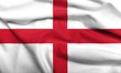 3D Flag of England satin