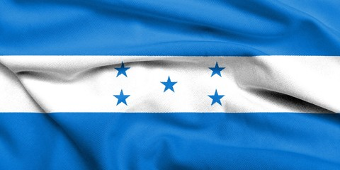 3D Flag of Honduras satin