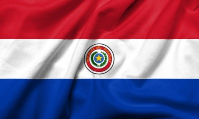 3D Flag of Paraguay satin