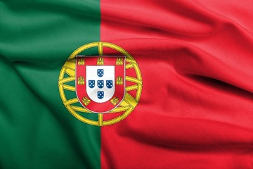 3D Flag of Portugal satin
