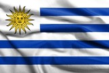 3D Flag of Uruguay satin