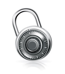 Combination lock, vector