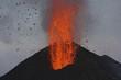 Molten lava erupts from Stromboli, Sicily
