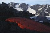 Molten lava flows from Mount Etna in Sicily, Val de Bove