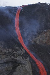 Molten lava flows from Eyjafjallajokull, Fimmvorduhals, Iceland