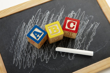 Chalkboard with ABC's
