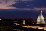 Mole Antonelliana di notte, Torino (Piemonte), Italia poster