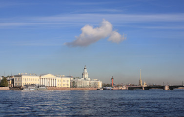 View of Universitetskaya embankment