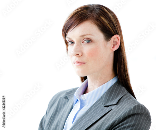 Portrait confident businesswoman