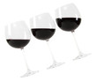 red wine in glass with hand made clipping path