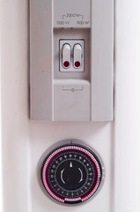 Timer on oil heater