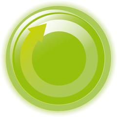 Vector illustration green environmental bubble on white