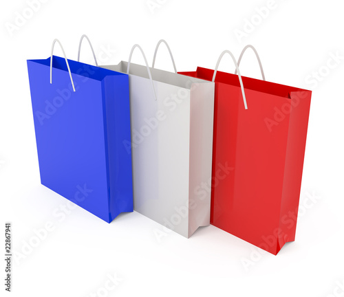 Paper bags colored