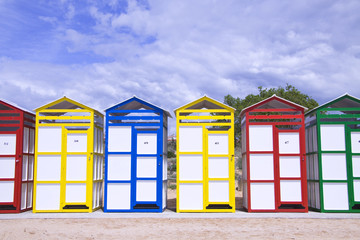 Colorful cabins