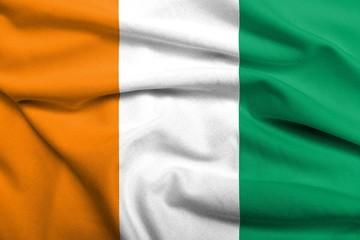 3D Flag of Cote d'Ivoire satin