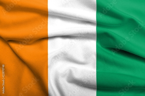 3D Flag of Cote d'Ivoire satin