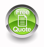 'Free Quote' glossy icon poster