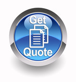 'Get quote' glossy icon poster