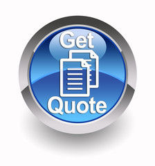 ''Get quote'' glossy icon