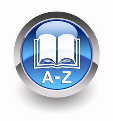 ''Online Dictionary (Terms A-Z)'' glossy icon