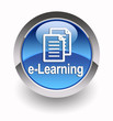 ''E-learning'' glossy icon