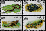 post stamps shows reptiles poster