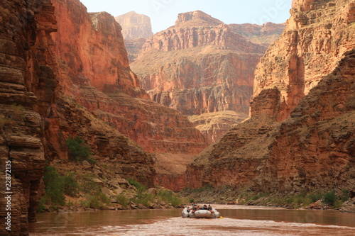 Foto op Plexiglas Canyon Grand Canyon White Wayer Rafting