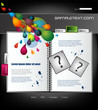 Website template with colorful drops, vector