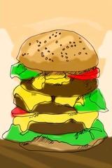 Skizze: Burger