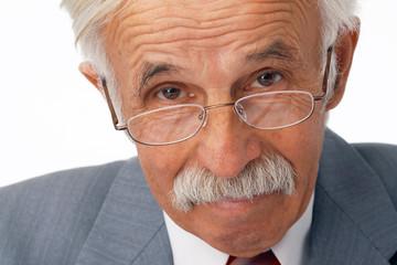 Close-up Of Elder Businessman.