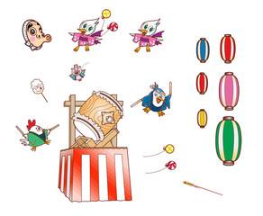祭りの素材イラスト02