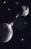 impact météorite poster