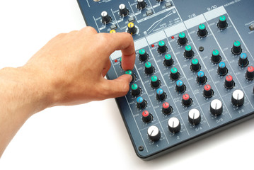 Hand and mixing console
